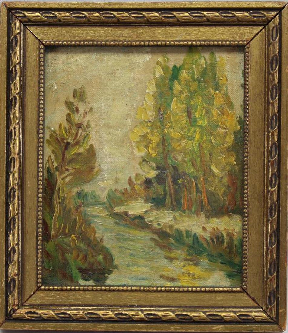 American School, Painting of a River Landscape