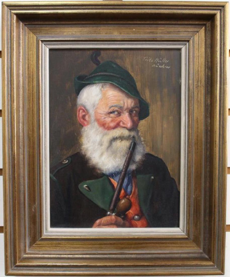 Fritz Muller (1913 - 1972) Portrait of a Man