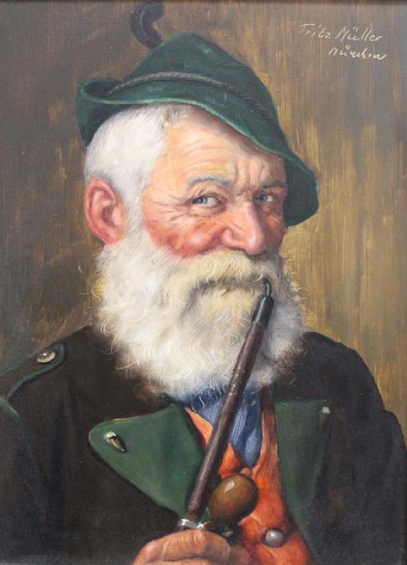 Fritz Muller (1913 - 1972) Portrait of a Man - 2