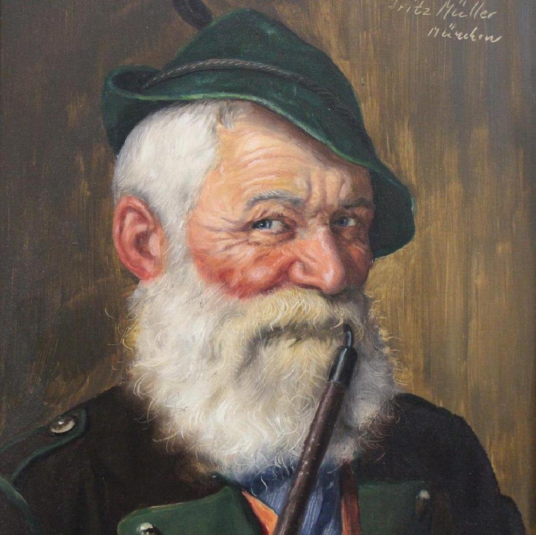 Fritz Muller (1913 - 1972) Portrait of a Man - 3