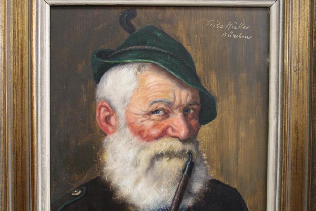 Fritz Muller (1913 - 1972) Portrait of a Man - 6