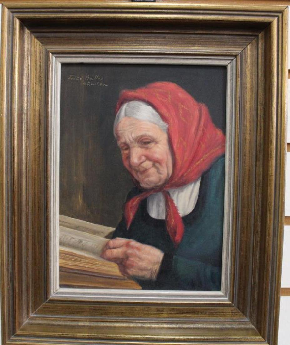 Fritz Muller (1913 - 1972) Portrait of a Woman