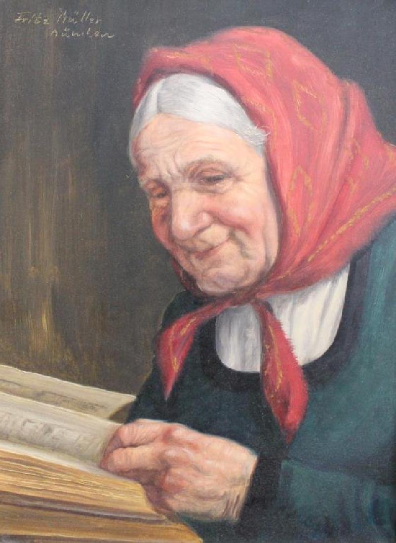 Fritz Muller (1913 - 1972) Portrait of a Woman - 2