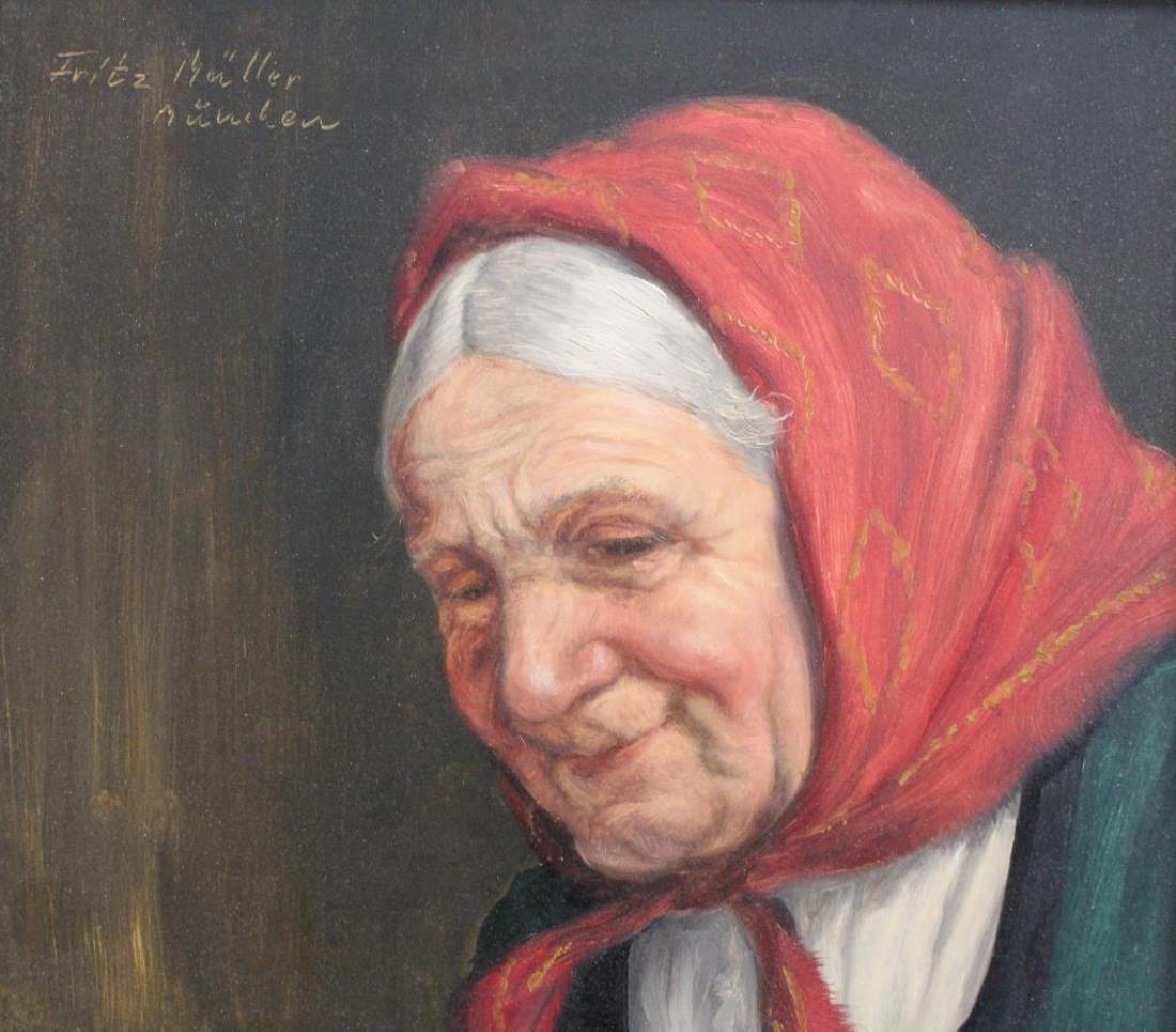 Fritz Muller (1913 - 1972) Portrait of a Woman - 3