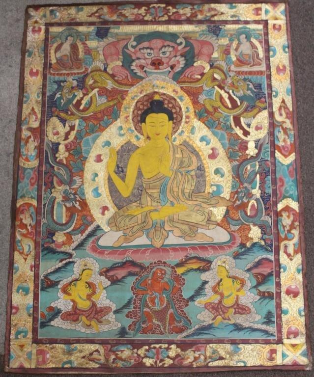 Antique Tibetan Thangka