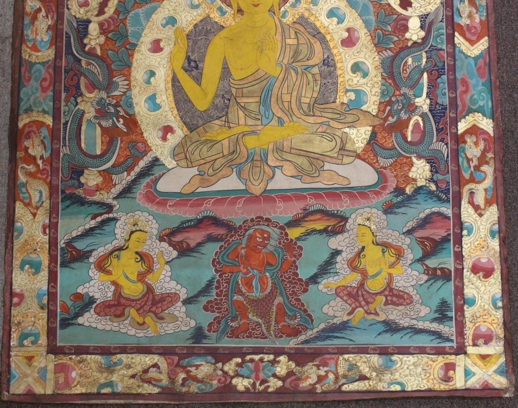 Antique Tibetan Thangka - 2