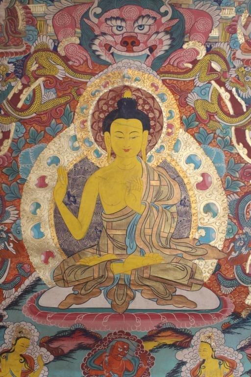 Antique Tibetan Thangka - 4