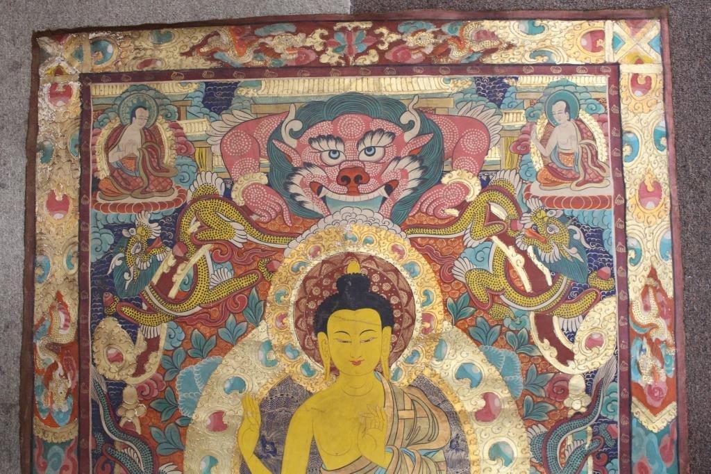 Antique Tibetan Thangka - 5