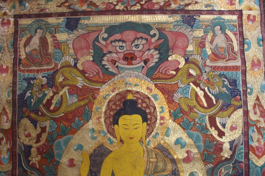 Antique Tibetan Thangka - 6