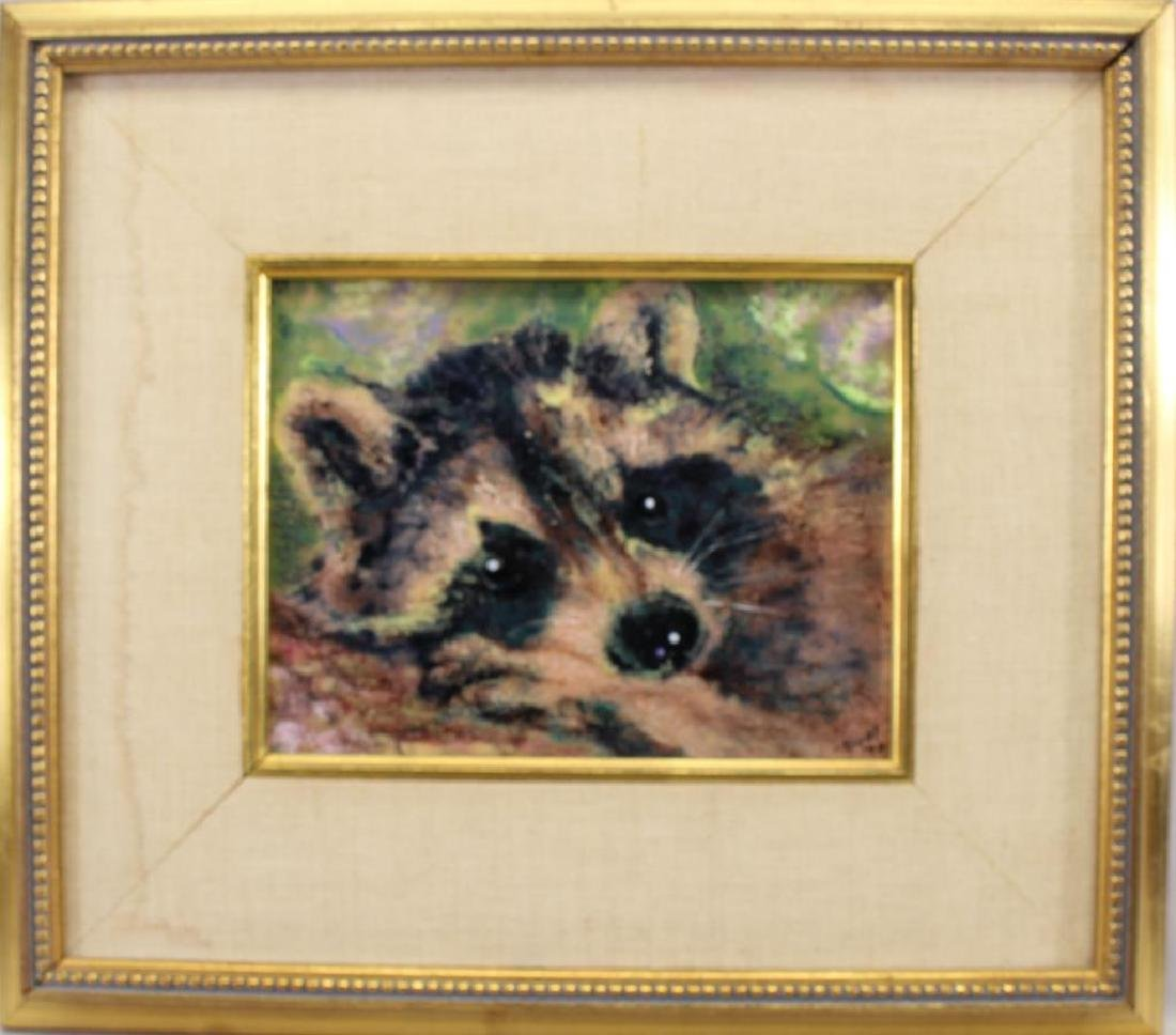 """""""Well-Earned Rest"""" Painting of a Raccoon"""