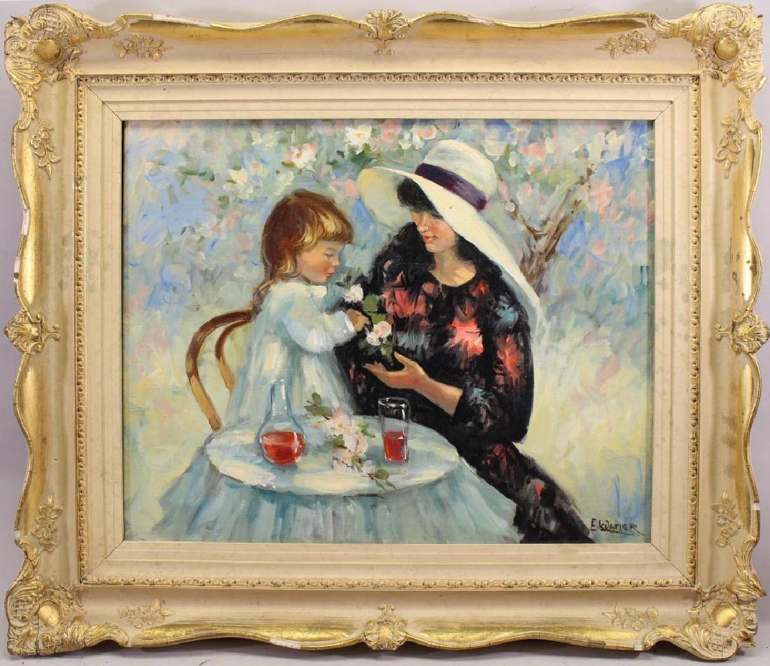 E Kramer, Mother & Child Painting