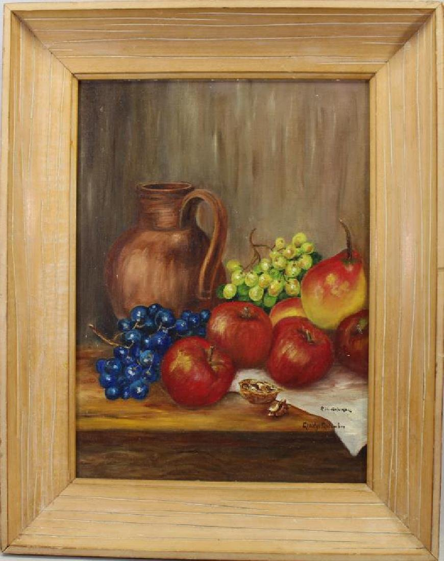Signed, American School Still Life of Fruit