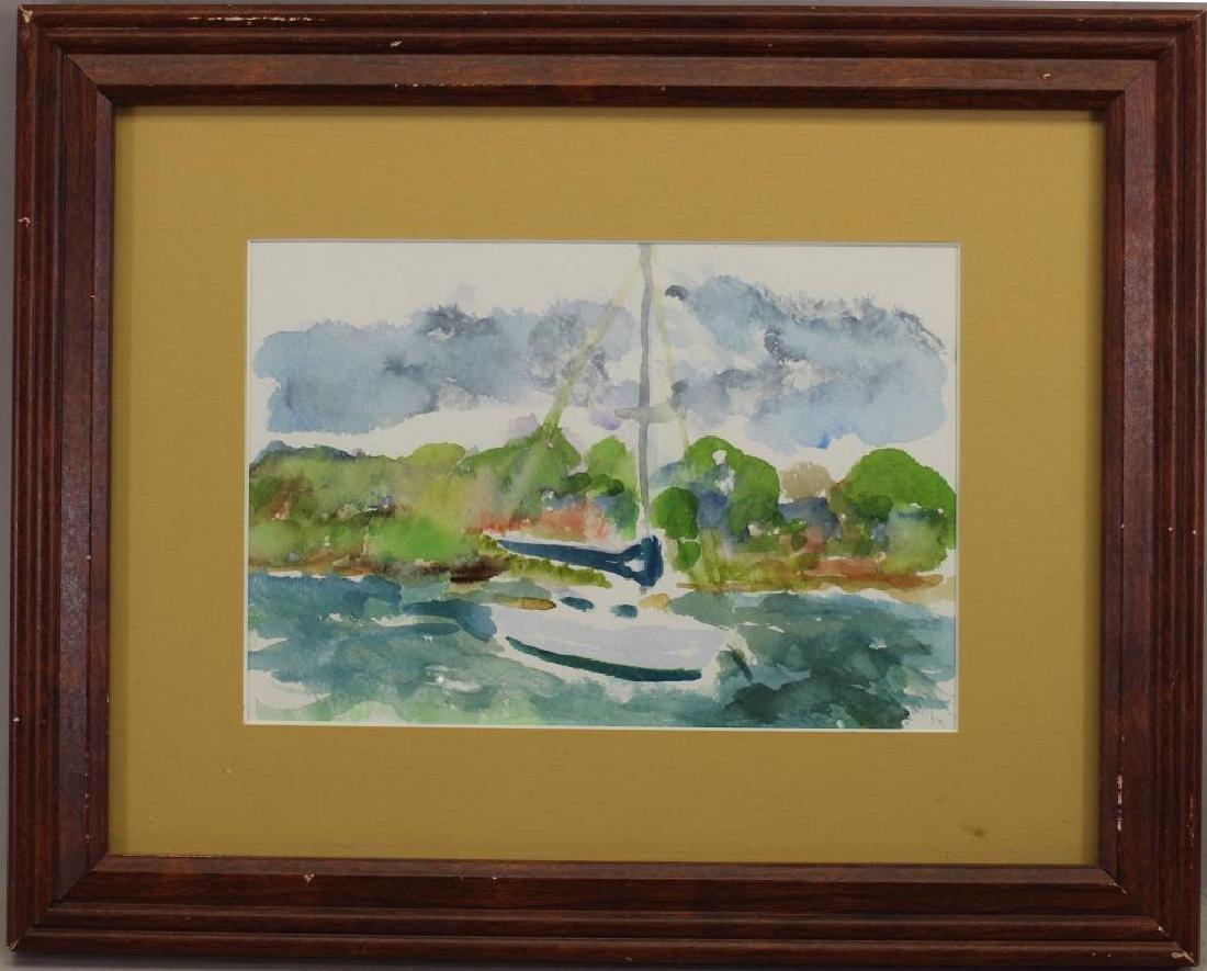 20th C. Watercolor, Desoto Point. Bradenton FL