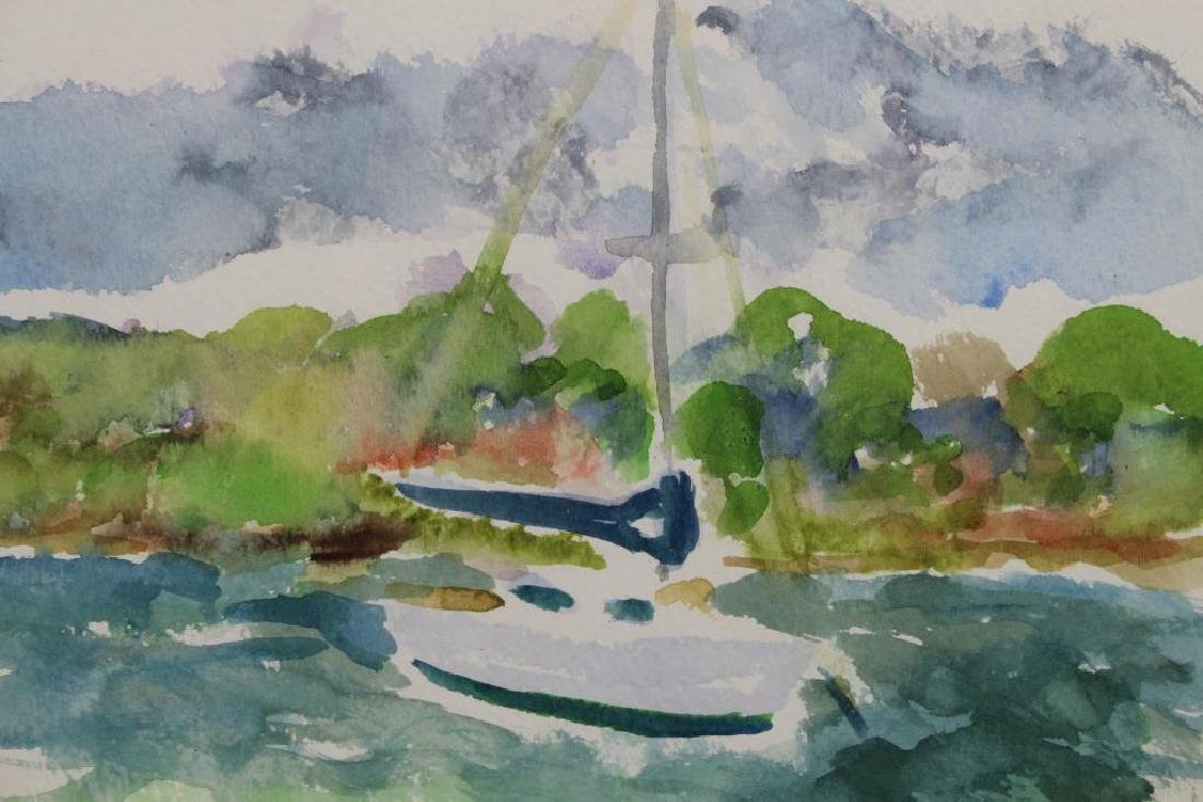 20th C. Watercolor, Desoto Point. Bradenton FL - 2