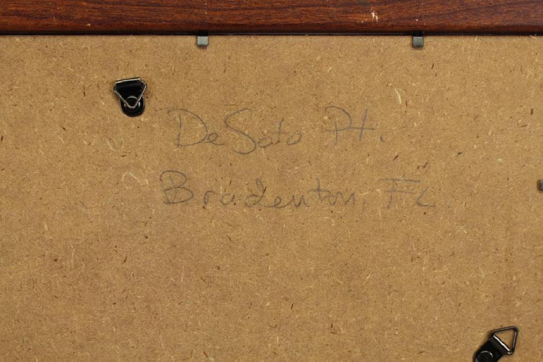 20th C. Watercolor, Desoto Point. Bradenton FL - 3