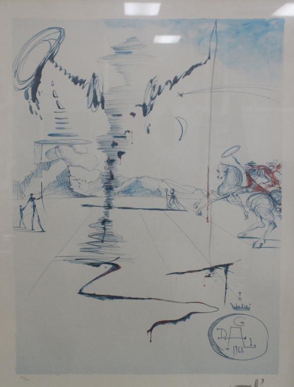 Salvador Dali Lithograph (82/500) - 2