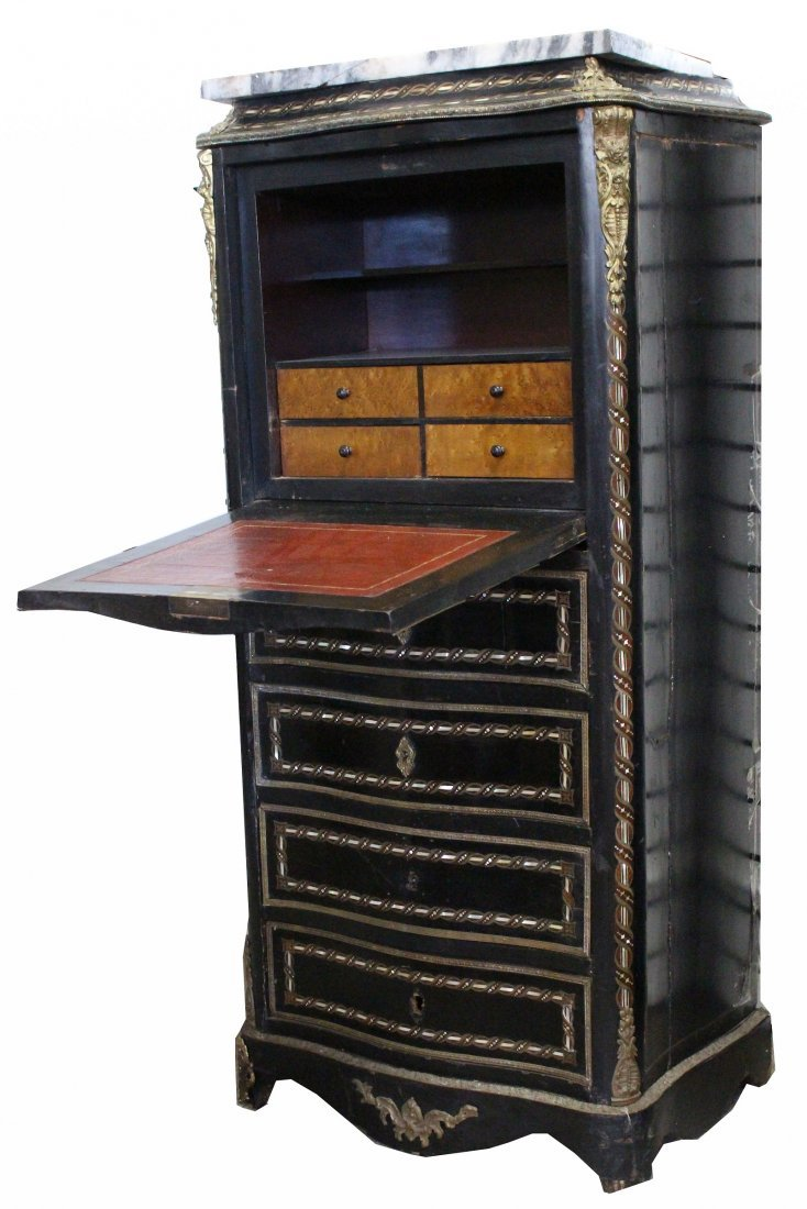 Victorian Inlaid Jewelry Armoire