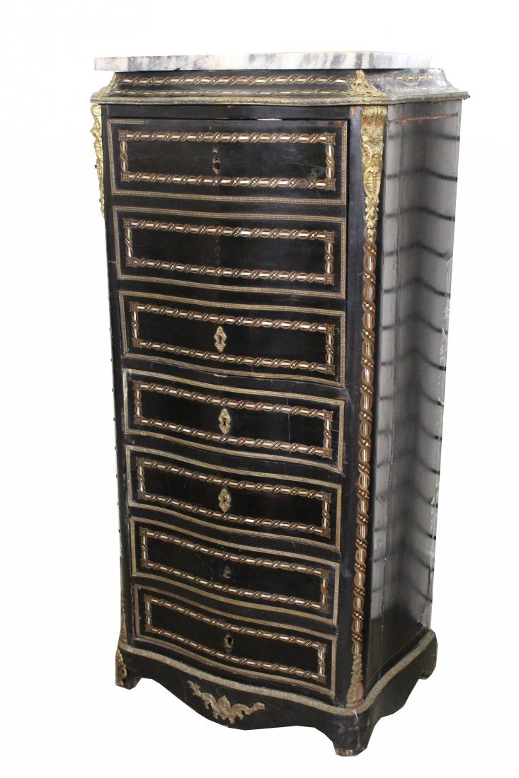 Victorian Inlaid Jewelry Armoire - 2