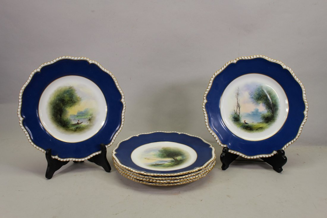 (6) Royal Worcester Gilt/Porcelain Dishes, Signed