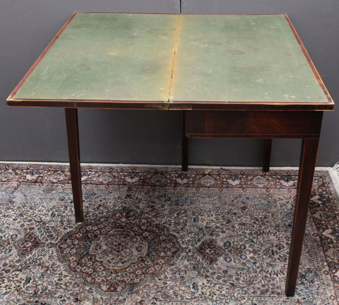 Antique English Mahogany Game Table