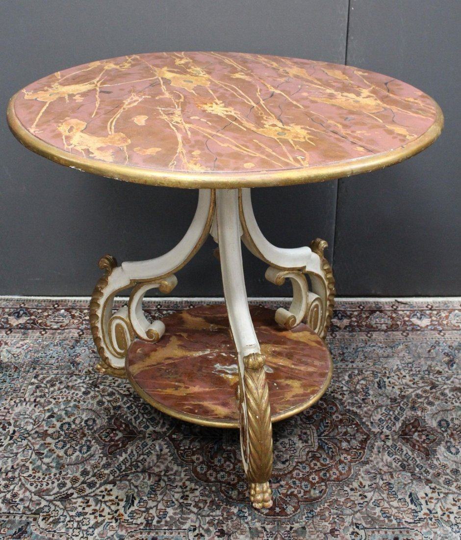 European Gilt/Wood Console Table