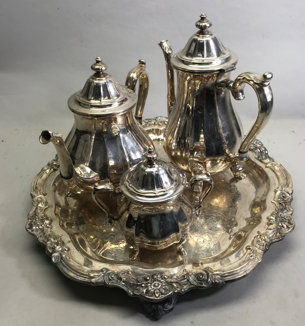 International Silverplate Tea Service W/ Tray