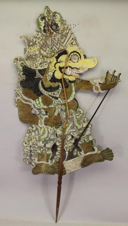 Late 19th/ Early 20th C. Javanese Shadow Puppet