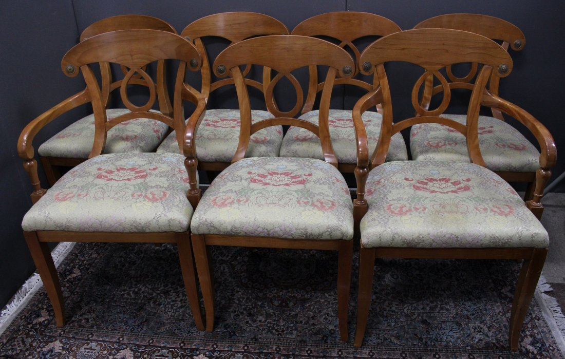 (7) Biedermeyer Style Dining Chairs