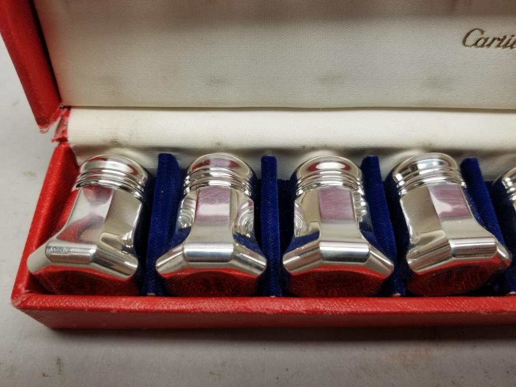 (8) Sterling Silver Cartier Salt/Pepper Shakers - 3