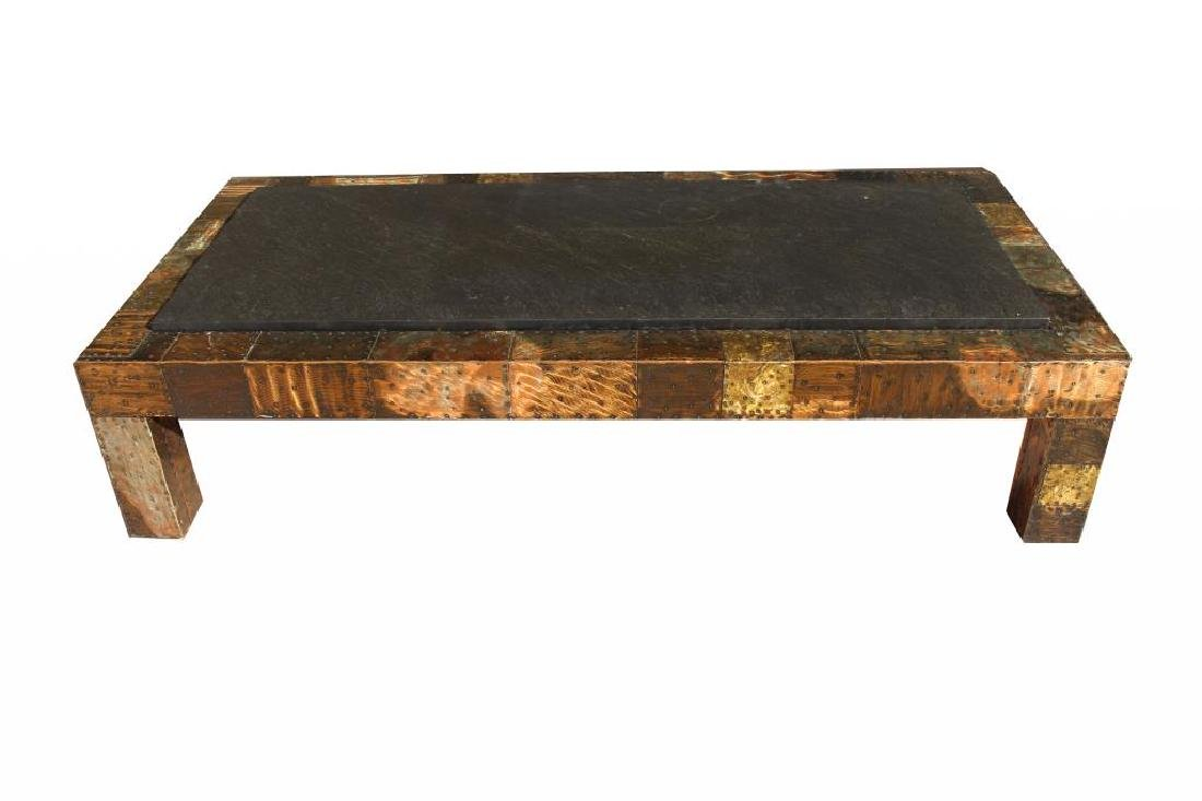 Paul Evans Slate-Top Patchwork Coffee Table