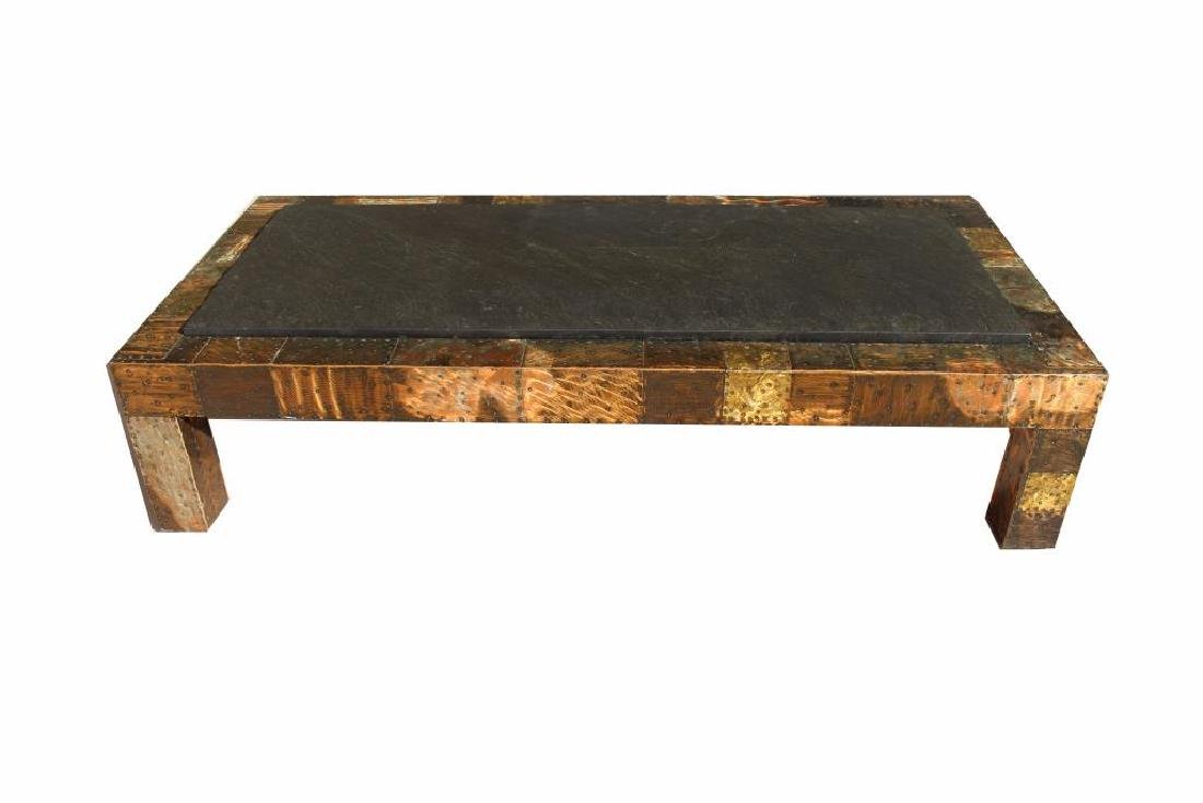 Paul Evans Slate-Top Patchwork Coffee Table - 2