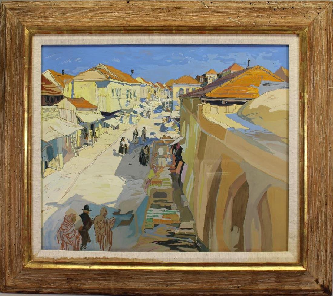 Saul Raskin (1878 - 1966) Jerusalem Street Scene