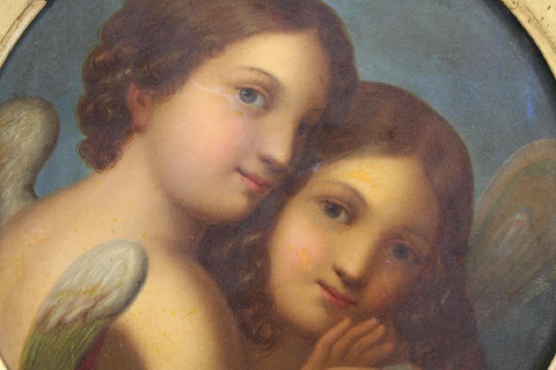 Manner of Raphael Painting of Two Cherubic Figures - 2