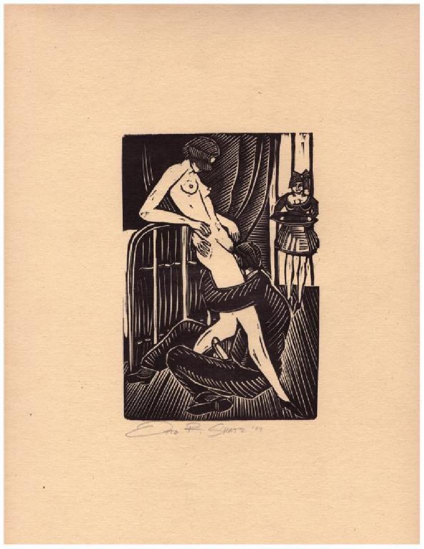 Otto Rudolph Schatz (1900-1961) Woodblock