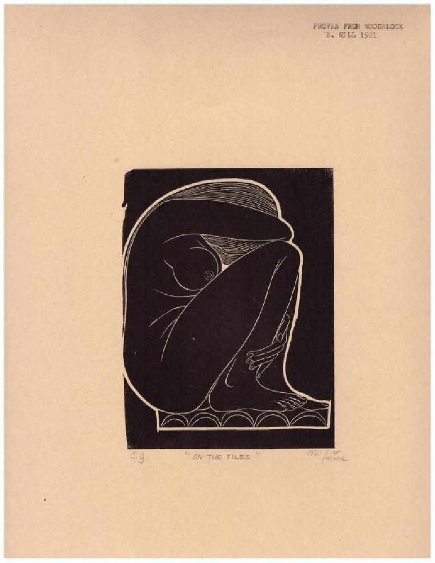 Eric Gill (1882-1940) Woodblock