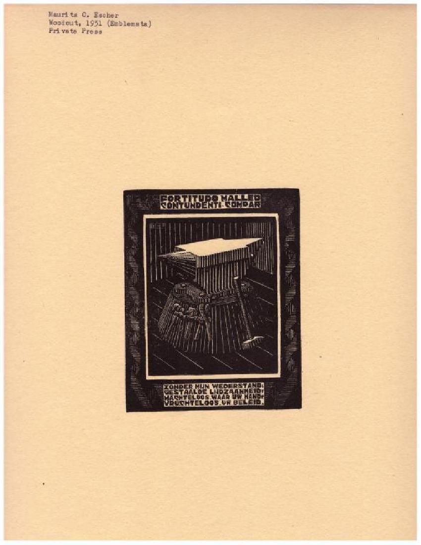 (8) Maurits Cornelis Escher (1898-1972) Woodcuts