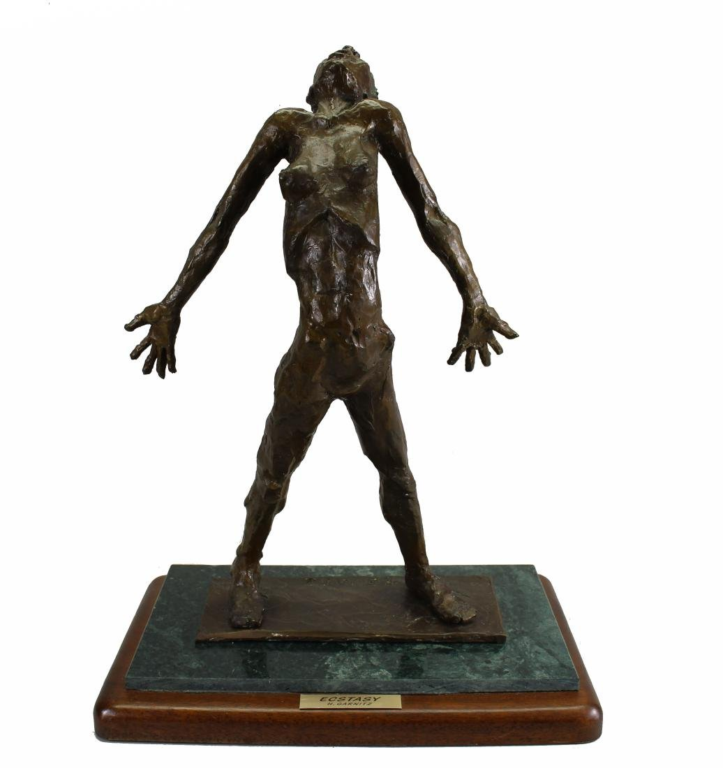 "Howard Garnitz Bronze ""Ecstasy"" Sculpture"