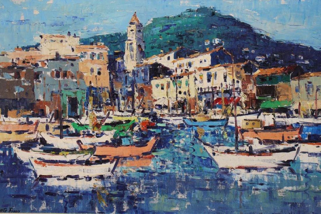 Signed, 20th C. Painting of Portofino Italy - 2