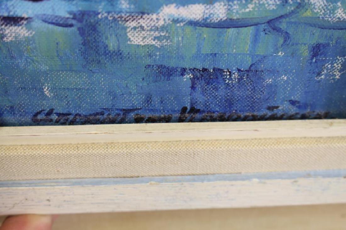 Signed, 20th C. Painting of Portofino Italy - 3