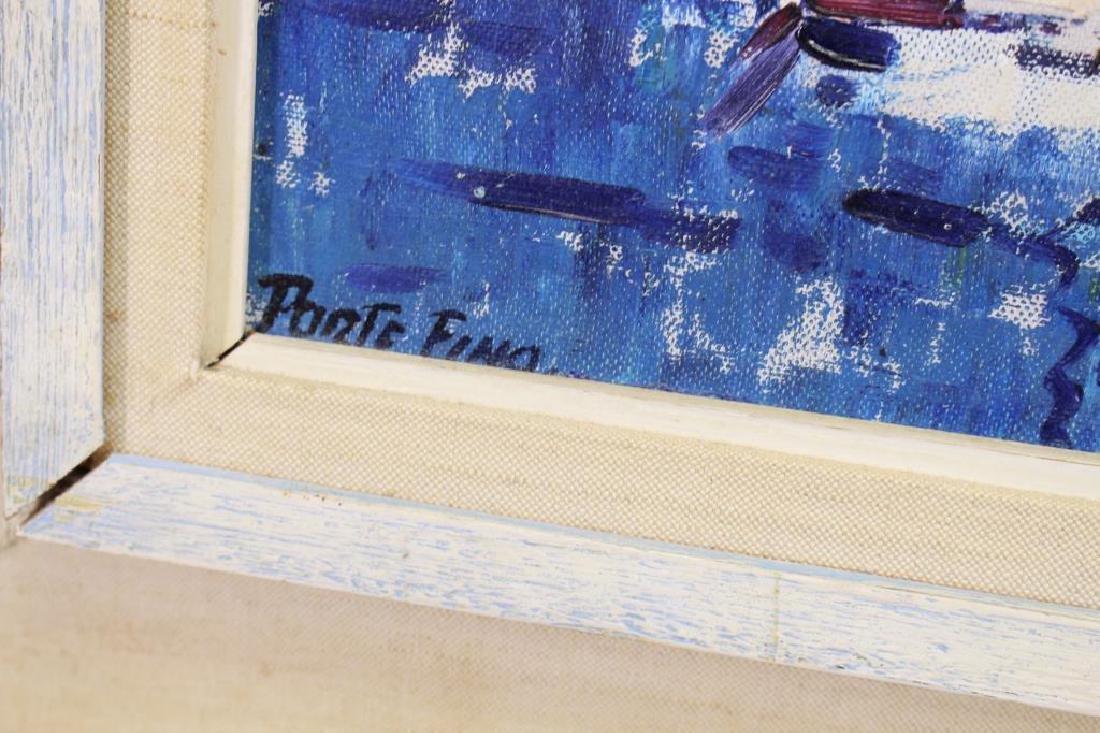 Signed, 20th C. Painting of Portofino Italy - 4