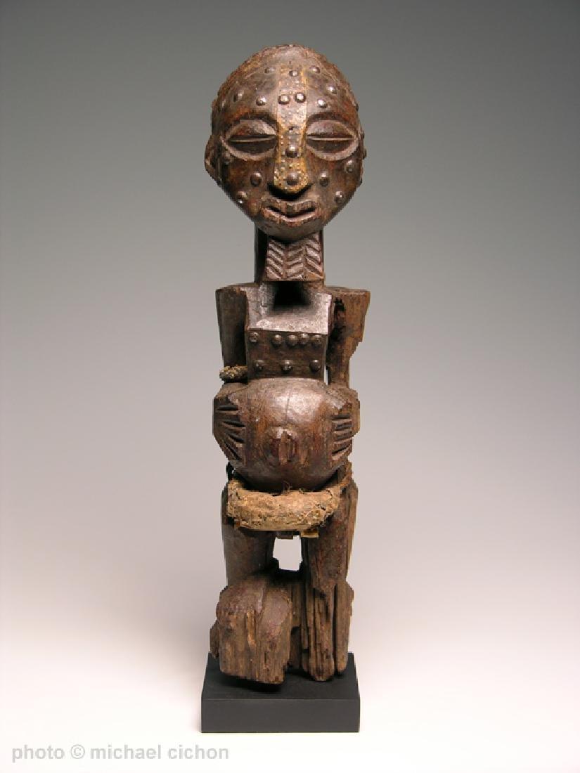 Early 20th C. Kalebwe Type Songye Nkisi Figure