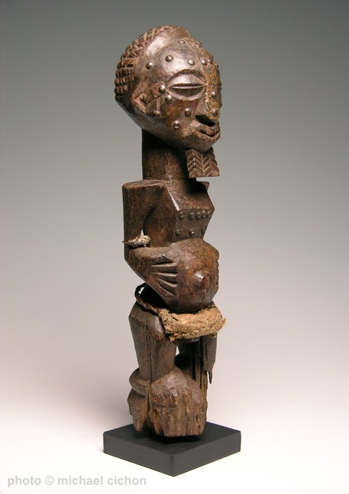 Early 20th C. Kalebwe Type Songye Nkisi Figure - 2