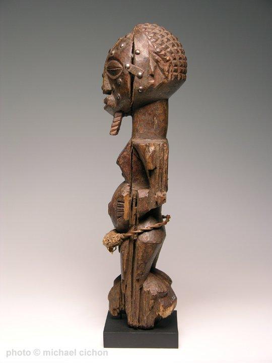 Early 20th C. Kalebwe Type Songye Nkisi Figure - 4