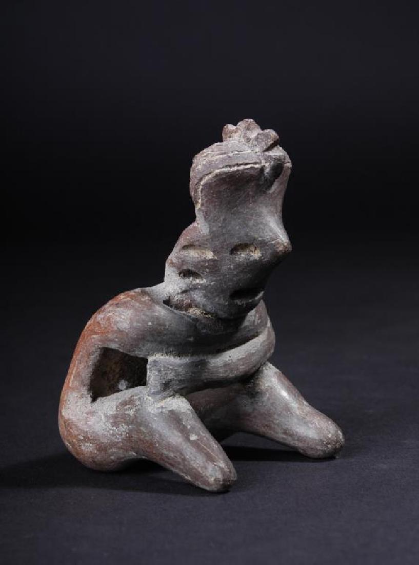 Pre-Columbian San Sebastian Type Seated Figurine