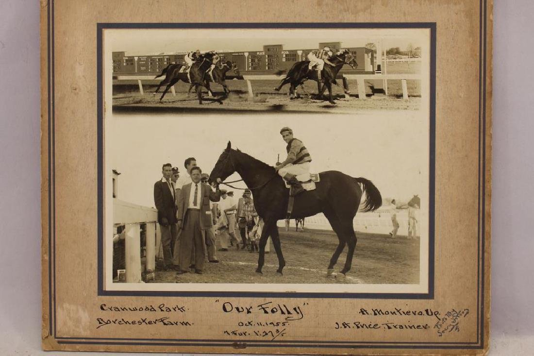 (6) Horse Racing Photos, Randall, Cranwood Park