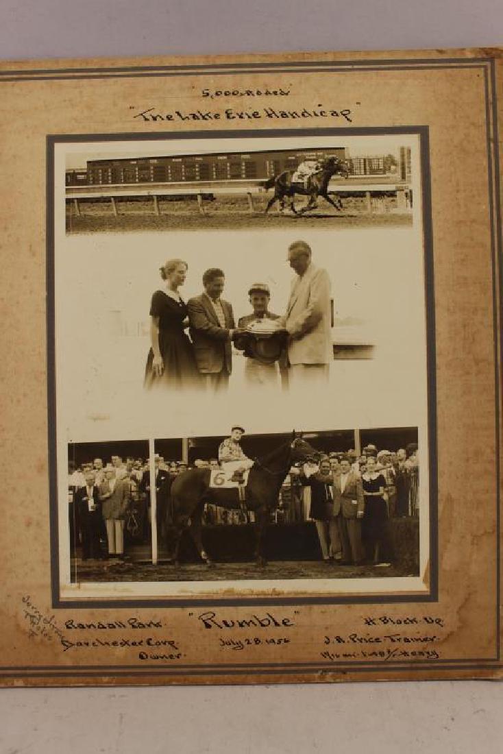 (6) Horse Racing Photos, Randall, Cranwood Park - 3