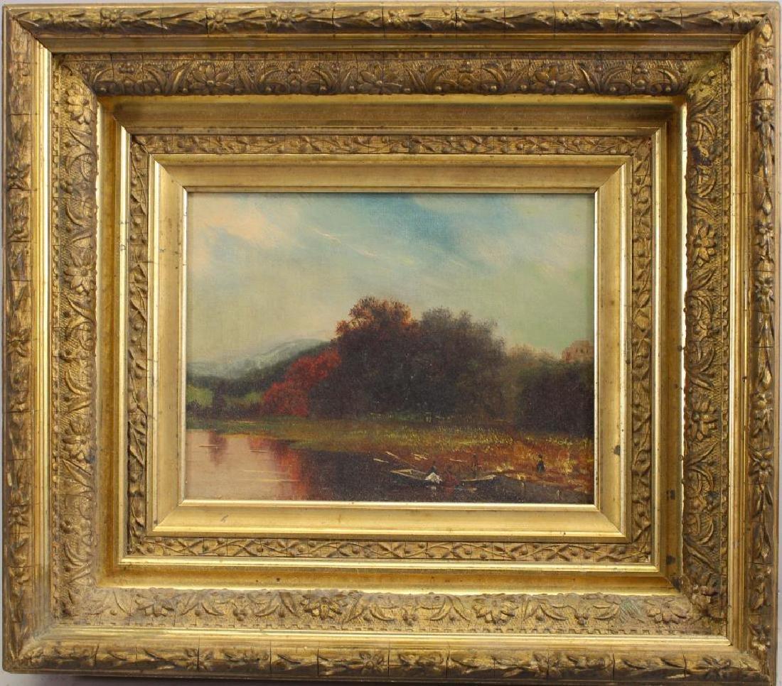 Hudson River School, 19th C. Landscape w Figures