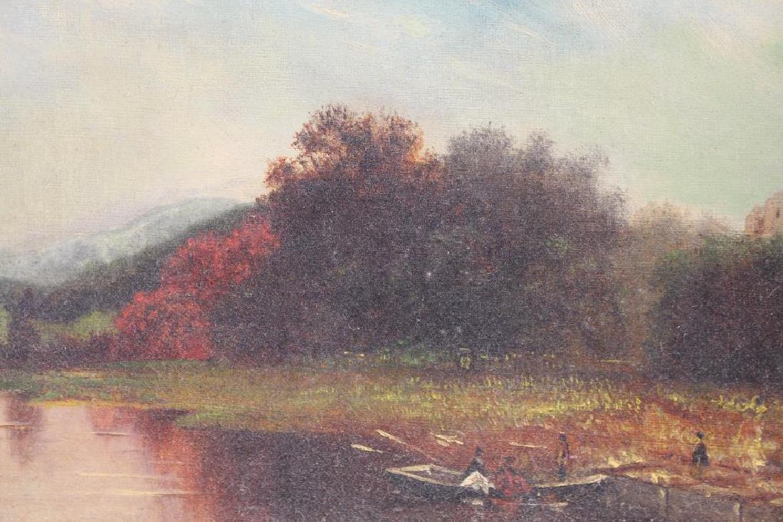 Hudson River School, 19th C. Landscape w Figures - 2