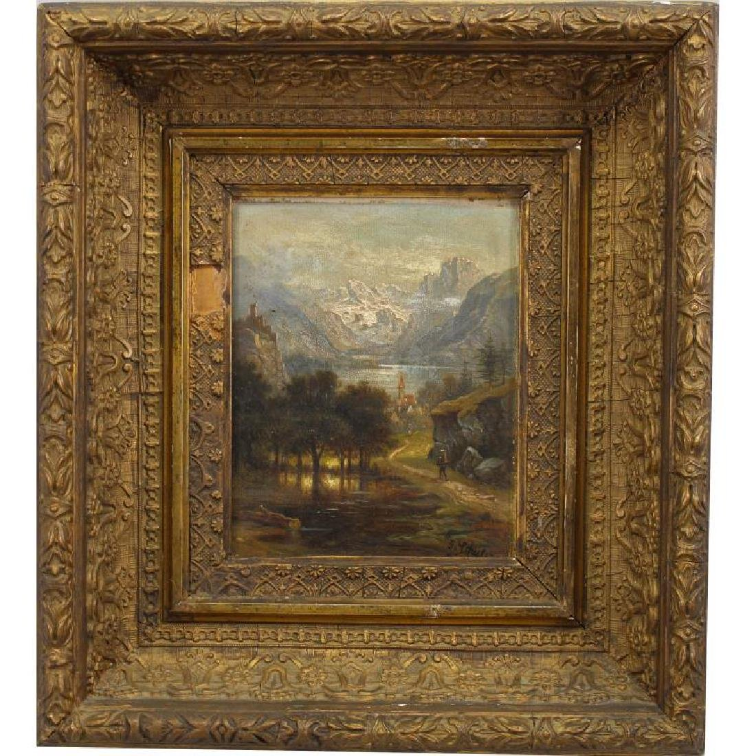 Signed 19th C. Tyrolean Landscape