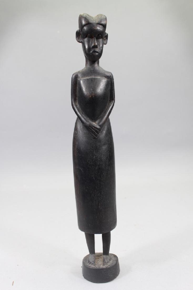 Antique Carved African Baule Woman Figure